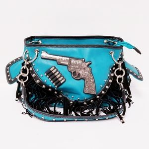 Western Style Concealed Carry Fringe Purse